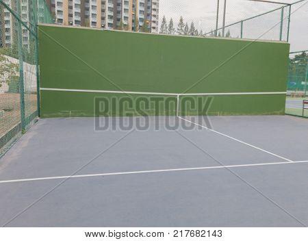 outdoor Empty tennis knock board at thailand