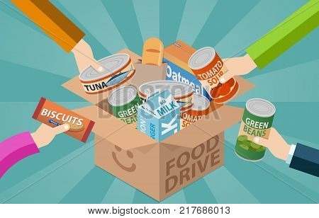 Food Drive Donation Box For Community In Needed