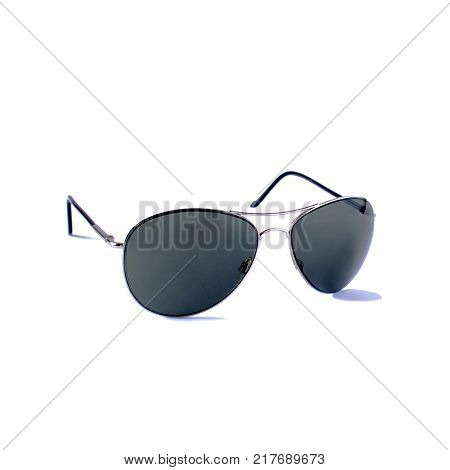 Glasses on a white background perfect reflection. Isolated object