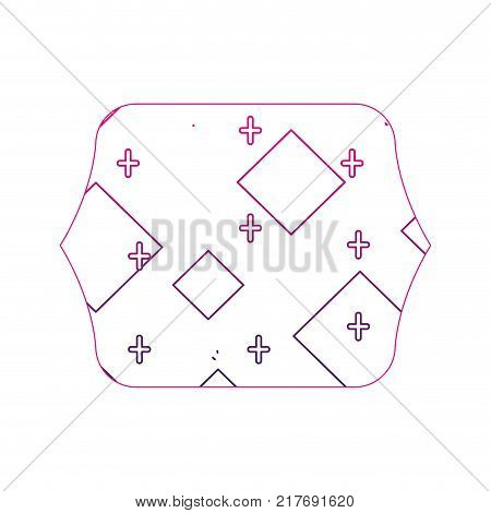 color edge quadrate with memphis geometric abstract background vector illustration