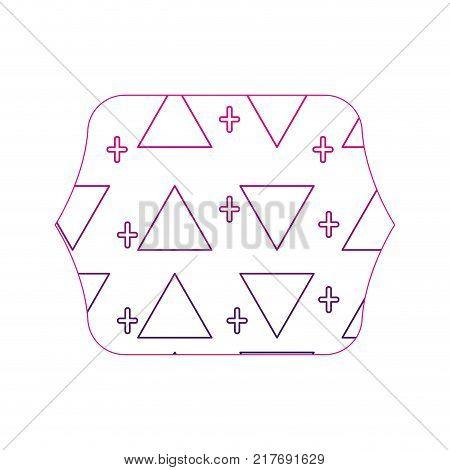 color edge quadrate with memphis style geometric design background vector illustration