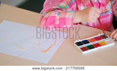 drawing courses for talented children. art school lessons. creation process.
