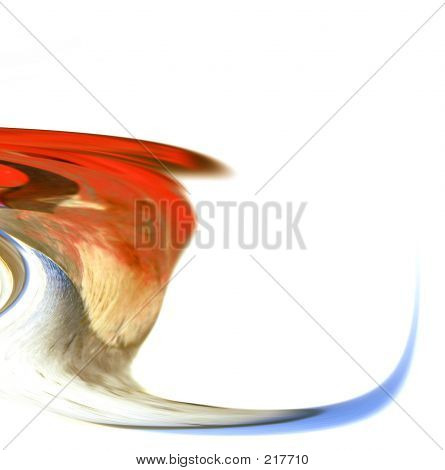 abstract art - waterfall to wave poster
