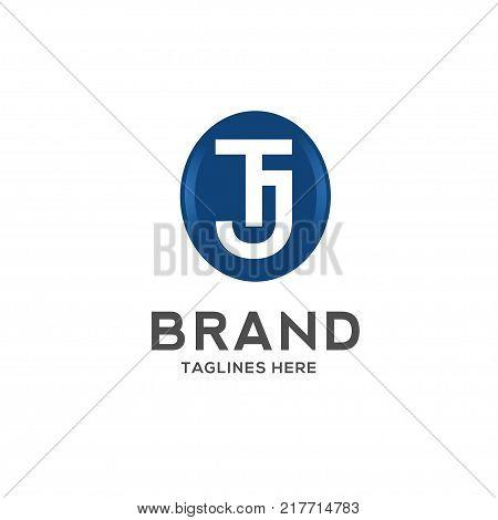TJ letter logo design vector illustration template, T letter logo vector, letter T and J logo vector, creative Letter TJ letter logo