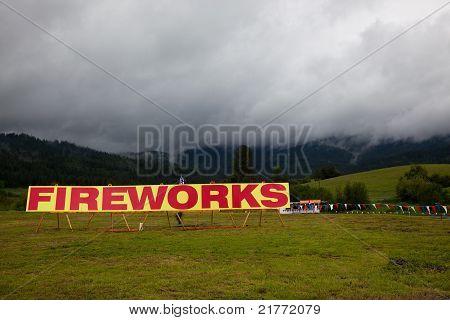 Fireworks Sign