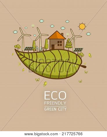 green earth- ecology concept green information with ecology and green city of energy saving or clean energy with green collection.Ecology info collectionChartsSymbolsGraphic elements.