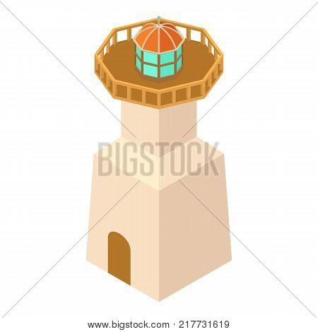 Lighthouse navigation icon. Isometric illustration of lighthouse navigation vector icon for web