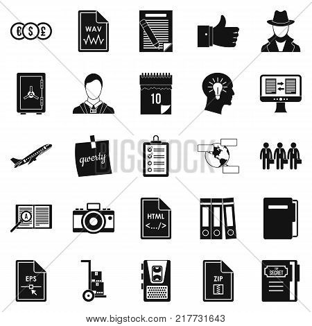 Debenture stock icons set. Simple set of 25 debenture stock vector icons for web isolated on white background