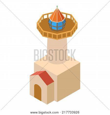 Lighthouse coast icon. Isometric illustration of lighthouse coast vector icon for web