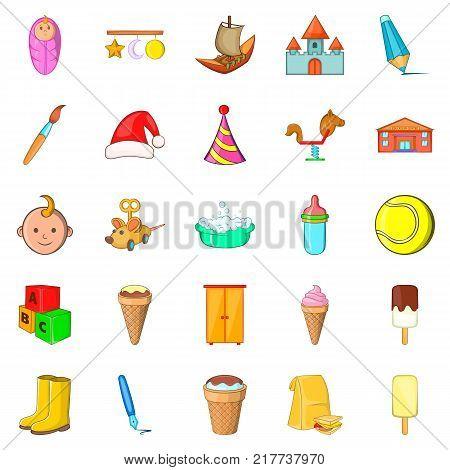 Babe icons set. Cartoon set of 25 babe vector icons for web isolated on white background