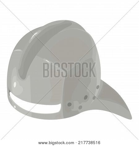 Helmet knight iron icon. Isometric illustration of helmet knight iron vector icon for web
