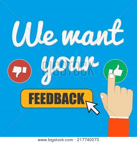 Rating on customer service illustration. Website rating feedback and review concept.