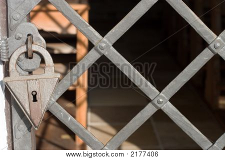 Old Lock And Gate