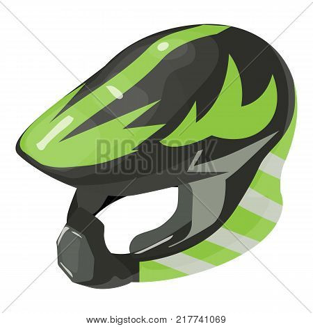 Helmet motorcycle icon. Isometric illustration of helmet motorcycle vector icon for web
