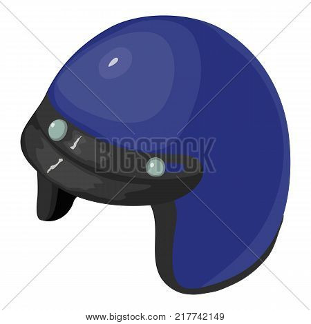 Helmet motorcycle blue icon. Isometric illustration of helmet motorcycle blue vector icon for web