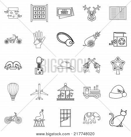 Shirttail icons set. Outline set of 25 shirttail vector icons for web isolated on white background