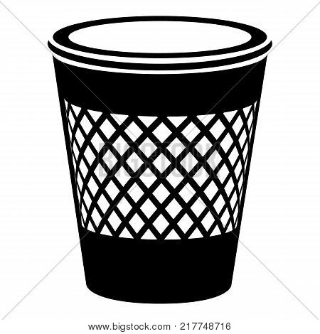 Domestic bin icon. Simple illustration of domestic bin vector icon for web