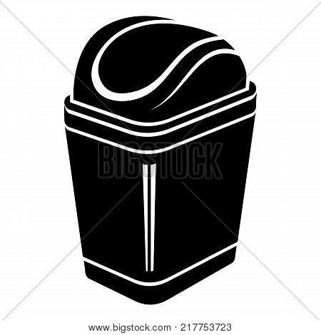 Plastic bin icon. Simple illustration of plastic bin vector icon for web