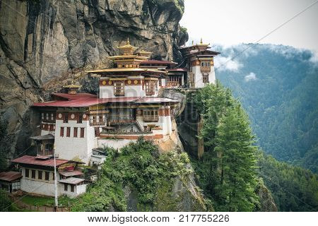Taktshang Monastery (tiger's Nest), Paro Valley, Paro District, Bhutan
