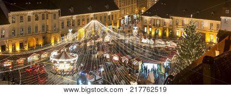 Christmas Market In Sibiu, Romania