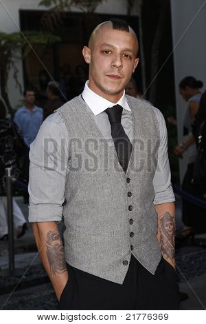 LOS ANGELES - AUG 30: Theo Rossi at the Season Three premiere screening of 'Sons of Anarchy' at the Cinerama Dome in Los Angeles, California on August 30, 2010