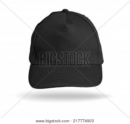 Black Baseball Cap on a white background