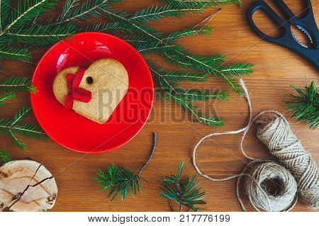 Christmas Gingerbread On A Table