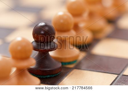 Chess Business Concept Leader Success. Selective Focus Shallow Depth Of Field.