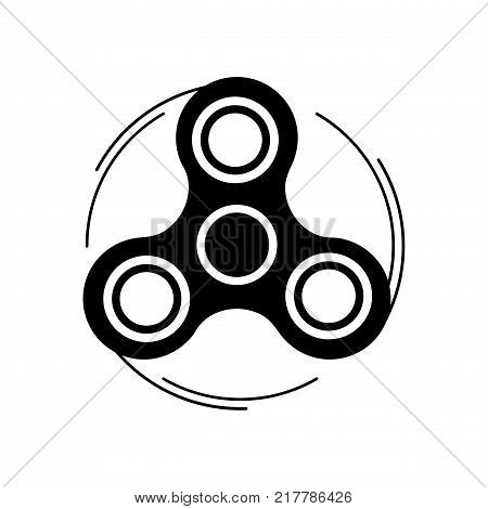 Fidget spinner icon. Trendy stress relieving toy isolated on white background. Symbol for your web site design logo app