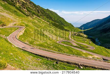 Tranfagarasan Road In Romanian Mountains