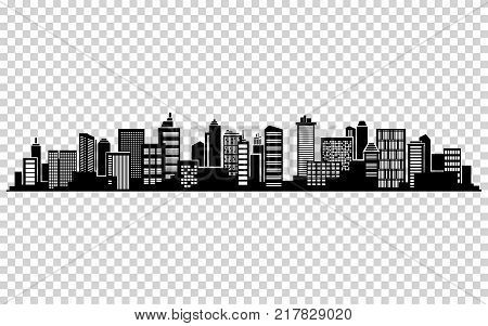 Vector city silhouette. Cityscape vector design. Skyline architecture