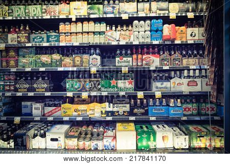 Imported Beers At Whole Foods Store