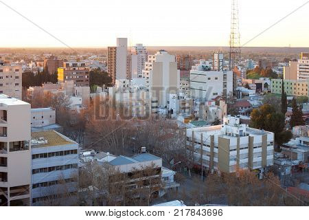Neuquen Provincia de Neuquen Argentina - September 11 2010: The city of Neuquen the capital of the province with the same name is the gate to the Argentinian Patagonia.