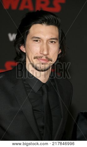 Adam Driver at the World premiere of 'Star Wars: The Last Jedi' held at the Shrine Auditorium in Los Angeles, USA on December 9, 2017.