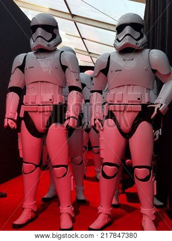Stormtroopers at the World premiere of 'Star Wars: The Last Jedi' held at the Shrine Auditorium in Los Angeles, USA on December 9, 2017.