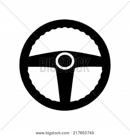 Car driver sign. Vector. Black icon from many ovelapping circles with random opacity on white background. Noisy. Isolated.