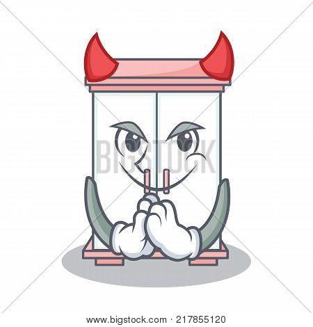 Devil cabinet character cartoon style vector illustration