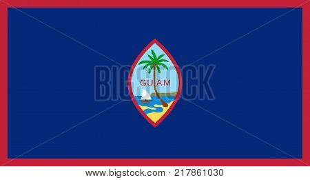 The Official vector flag of Guam . vector