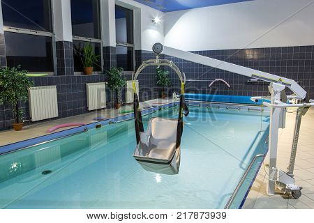 WISLA POLAND - OCTOBER 23 2105: Hydrotherapy pool at the rehabilitation center for the disabled in Wisla Poland