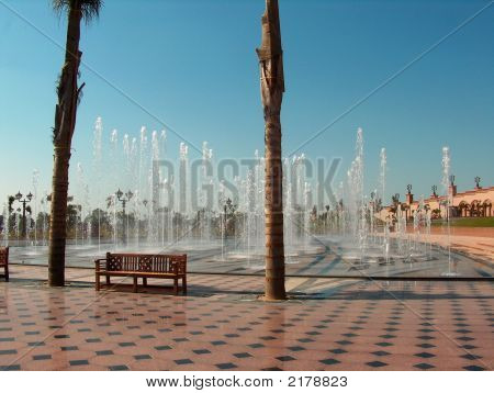 Water Fountain In Abu Dhabi