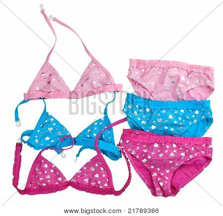Three Colored Children's Swimsuit