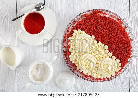 Red Velvet Cake, Top View