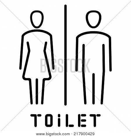Simple basic sign icon male and female toilet. Vector illustration.