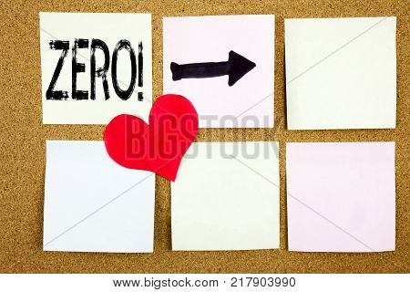 Conceptual hand writing text caption inspiration showing Zero concept for Zero Zeros Nought Tolerance and Love written on wooden background, reminder  background with space