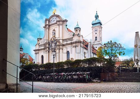 Heiliggeistkirche (Church of the Holy Spirit) in Munich Germany