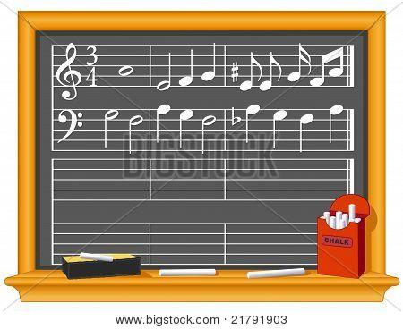 Music And Blackboard