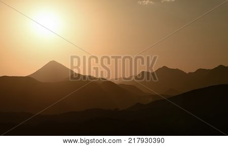 majestic inaccessible and challenging mountains & view of the summit sunrise