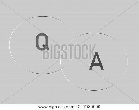 Question answer icon on gray background. Question and answer sign. Q&A symbol. flat style.