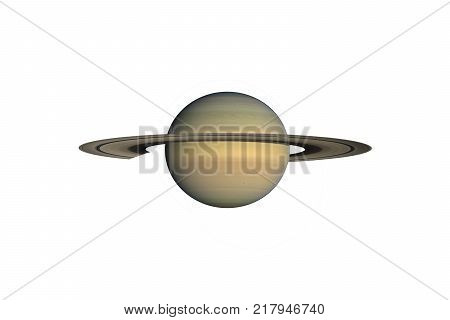 Saturn planet isolated on white. Elements of this image furnished by NASA