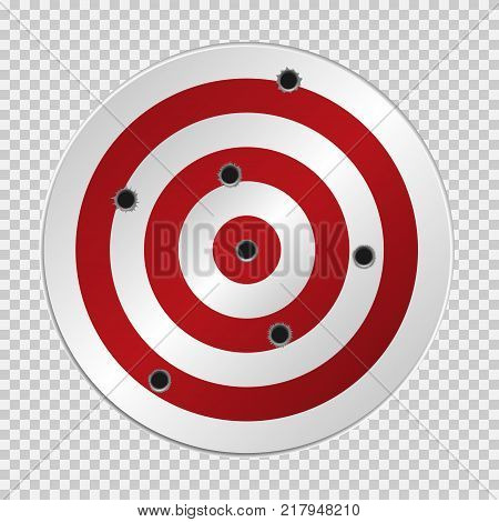 Target with bullet holes. Vector illustration EPS-10 version